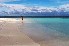 herrlicher weißer Strand